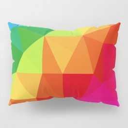 Rainbow Low Poly Pillow Sham