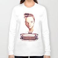 elvis presley Long Sleeve T-shirts featuring Elvis Presley by Diego Abelenda