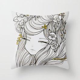 Shiori (詩織) Throw Pillow