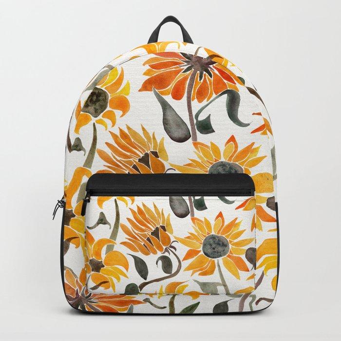 Sunflower Watercolor – Yellow & Black Palette Rucksack