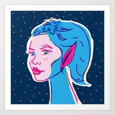 Pixie in the Sky of Diamonds Art Print