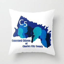 C5 Concerned Citizens of Charles City County Throw Pillow