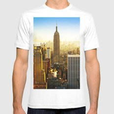 Empire State Building (The City) MEDIUM White Mens Fitted Tee