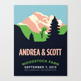 Mountains Print Canvas Print