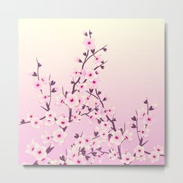 Cherry Blossoms Pink Metal Print