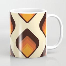 Mid-Century Modern Orange and Brown Tear Drop Coffee Mug