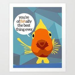 Affirming Fish Art Print
