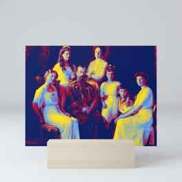 Romanoff Family  1913-14 Neon art by Ahmet Asar Mini Art Print