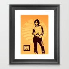 jean ad 3 Framed Art Print