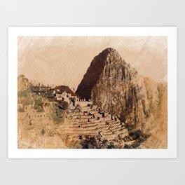 Machu Picchu Peru Art Print