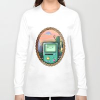 bmo Long Sleeve T-shirts featuring BMO!! by SempiternalILLUSTRATIONS