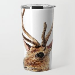 deer watercolor painting Travel Mug