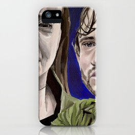 Abigail and Will, acrylic painting iPhone Case