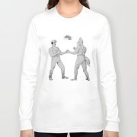 smash bros Long Sleeve T-shirts featuring Old Timey Smash Bros by MikeOB