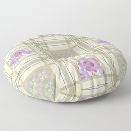 Olive green cage and roses. Floor Pillow