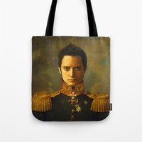 replaceface Tote Bags featuring Elijah Wood - replaceface by replaceface
