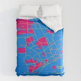 "Map: Detroit Future City ""Neighborhoods"" Comforters"