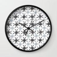 mid century modern Wall Clocks featuring Mid Century Modern #1 by Bird Junker