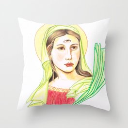 Eye of Lucy Throw Pillow