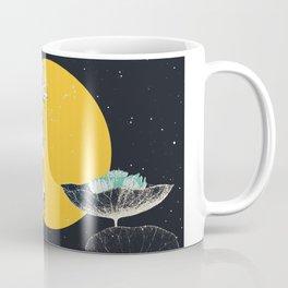 soleil couchant sur nénuphars Coffee Mug