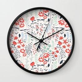 Flower garden 002 Wall Clock
