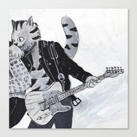springsteen Canvas Prints featuring New Jersey's Kitty Springsteen  by Rothco Press