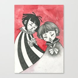 sad children Canvas Print