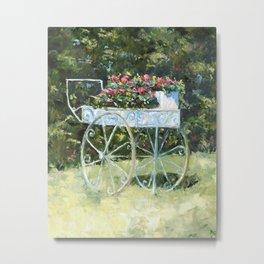 Zoll Street Flower Cart Metal Print