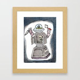 CLANK! CLANK! YOU'RE DEAD! Framed Art Print