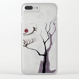 Watercolor Trees 14 Clear iPhone Case