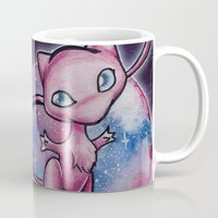 mew Mugs featuring 151 - Mew by Lyxy