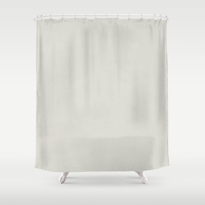 White Leather Texture Shower Curtain By Miyagidesign