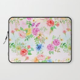 Watercolor Classic Rose Pattern Laptop Sleeve