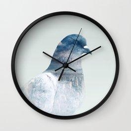 The world is my bathroom Wall Clock