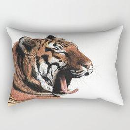 Yawning Rectangular Pillow
