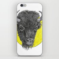 bison iPhone & iPod Skins featuring Bison by Triple_S_Art