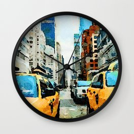 New York Taxicabs Wall Clock