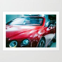 Jaguar Red Car Art Print