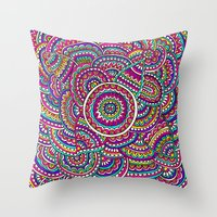 universe Throw Pillows featuring Universe by PeriwinklePeacoat