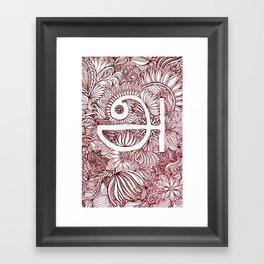 A in Tamil Framed Art Print