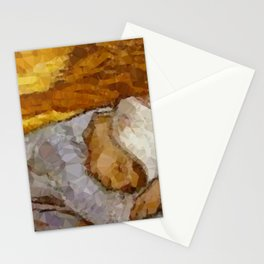 Rest From Work Detail After Van Gogh & Millet Stationery Cards