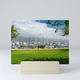 Santa Barbara Harbor, California Mini Art Print