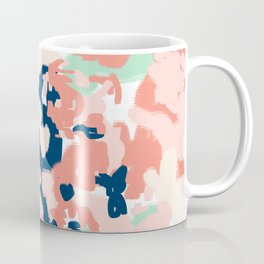 Kiehl - abstract minimal painting modern decor navy mint pastels nursery Coffee Mug