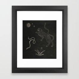 Desert Prey Ink Framed Art Print