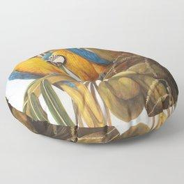 Pina Colada Paradise, Blue & Gold Macaws Floor Pillow