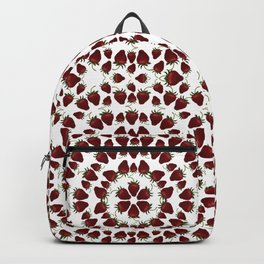 Red, Ripe Strawberries in a repeating pattern Backpack
