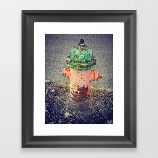 Hydrant Of Fire Framed Art Print