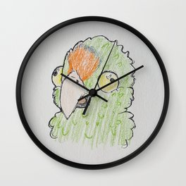 Cookie the Conure Wall Clock