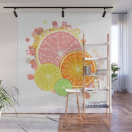 Burst of Citrus Wall Mural