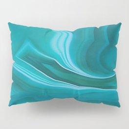 Agate sea green texture Pillow Sham
